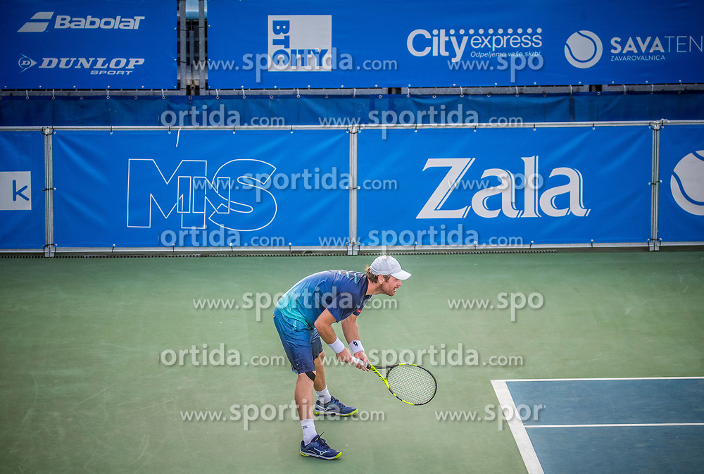Blaz Kavcic (SLO) plays against Aldin Setkic (BIH) at ATP Challenger Zavarovalnica Sava Slovenia Open 2017, on August 9, 2017 in Sports centre, Portoroz/Portorose, Slovenia. Photo by Vid Ponikvar / Sportida