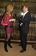 Celia walden and Pietro Beretta. Charles Finch and Dr. Franco Beretta host launch of Beretta stor at 36 St. James St. London. 10  January 2006. ONE TIME USE ONLY - DO NOT ARCHIVE  © Copyright Photograph by Dafydd Jones 66 Stockwell Park Rd. London SW9 0DA Tel 020 7733 0108 www.dafjones.com