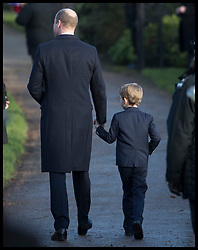 December 25, 2019, Sandringham, United Kingdom: Image licensed to i-Images Picture Agency. 25/12/2019. Sandringham, United Kingdom. Duke of Cambridge and Prince George leaving the Christmas Day church service at Sandringham in Norfolk, United Kingdom. (Credit Image: © Stephen Lock/i-Images via ZUMA Press)