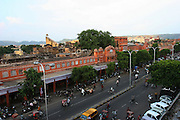 An overview of the town center of the pink city of Jaipur, Rajasthan, India..Photo by Suzanne Lee