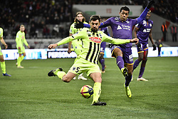 January 27, 2019 - Toulouse, France - Mathieu Dossevi (tfc) vs Steven Moreira  (Credit Image: © Panoramic via ZUMA Press)