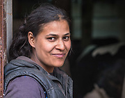 This is Trifonka. She works on a little farm in a village in the hills above Sofia, Bulgaria.<br /> Not a word was exchanged as I photographed her milking cows and preparing the milk for bottling and delivery... but we definitely communicated.