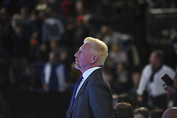 November 19, 2017 - London, England, United Kingdom - Boris Becker watches on during day eight of the 2017 Nitto ATP World Tour Finals at O2 Arena on November 19, 2017 in London, England. (Credit Image: © Alberto Pezzali/NurPhoto via ZUMA Press)