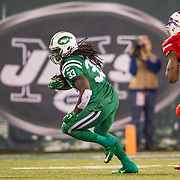 Nov 12, 2015; East Rutherford, NJ, USA; New York Jets running back Chris Ivory (33) running the ball  in the first half at MetLife Stadium. The Bills defeated the Jets 22-17 Mandatory Credit: William Hauser-USA TODAY Sports