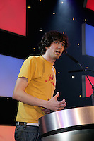 Snow Patrol frontman Gary Lightbody presenting the producer of the year award 2005 to Garret Lee