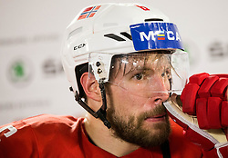 Jonas Holos of Norway after the 2017 IIHF Men's World Championship group B Ice hockey match between National Teams of Slovenia and Norway, on May 9, 2017 in Accorhotels Arena in Paris, France. Photo by Vid Ponikvar / Sportida
