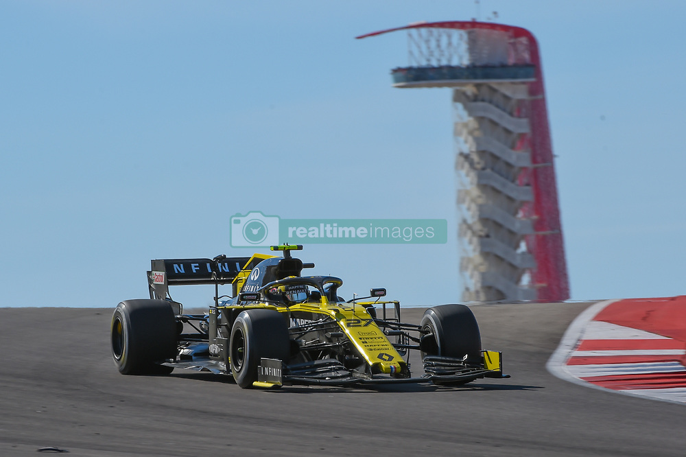 November 3, 2019, Austin, TX, USA: AUSTIN, TX - NOVEMBER 03: Renault driver Nico Hulkenberg (27) of Germany enters turn 10 during the F1 - U.S. Grand Prix race at Circuit of The Americas on November 3, 2019 in Austin, Texas. (Photo by Ken Murray/Icon Sportswire) (Credit Image: © Ken Murray/Icon SMI via ZUMA Press)