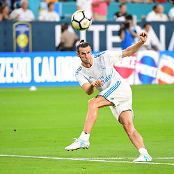 Gareth Bale of Real Madrid warms up before the International Champions Cup match between Barcelona and Real Madrid at Hard Rock Stadium on July 29, 2017 in Miami Gardens, Florida. (Photo by Dave Winter/Icon Sport)