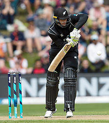New Zealand's Martin Guptill batting against Pakistan in the third one day cricket international at the University of Otago Oval, Dunedin, New Zealand, Saturday, January 13, 2018. Credit:SNPA / Adam Binns ** NO ARCHIVING**