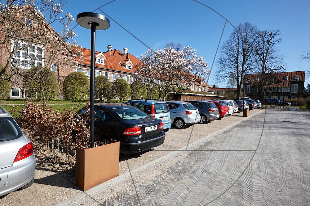 parkeringsplads, Bispebjerg Hospital, tidligere tennisbaner, P-plads, biler