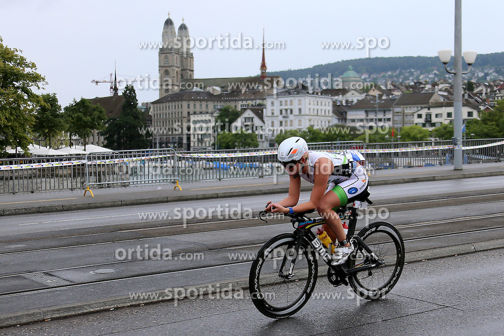 27.07.2014, Z&uuml;rich, SUI, Ironman Zuerich 2014, im Bild Celine Schaerer (SUI) // during the Zurich 2014 Ironman, Switzerland on 2014/07/27. EXPA Pictures &copy; 2014, PhotoCredit: EXPA/ Freshfocus/ Claude Diderich<br /> <br /> *****ATTENTION - for AUT, SLO, CRO, SRB, BIH, MAZ only*****