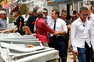 Emmanuel Macron in the French Caribbean islands - 13 Sep 2017