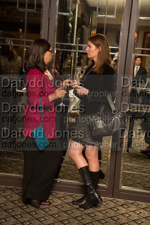 SUZANNE REISMAN; CHARLOTTE DENTON, Dinner in aid of the China Tiger Revival hosted by Sir David Tang and Stephen Fry  at China Tang, Park Lane, London. 1 October 2013. ,