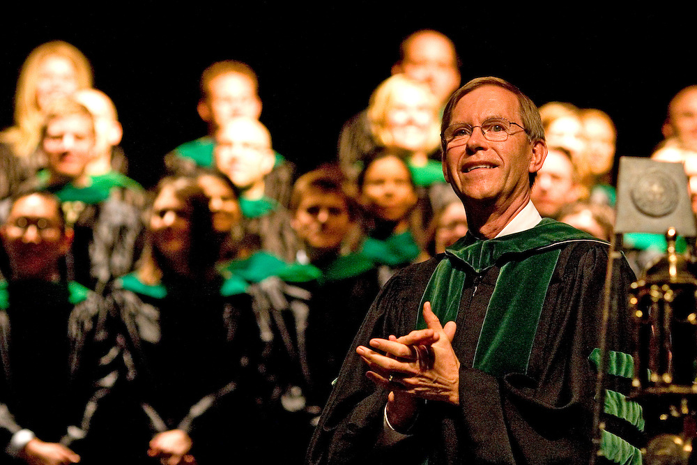 OU College of Osteopathic Medicine Dean John Brose, D. O., applauds the Class of 2008.