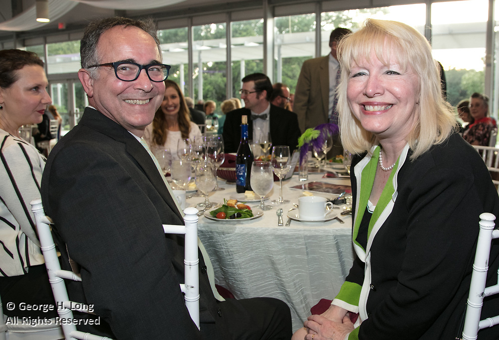 John Lawrence and Peggy Scott Laborde at the Louisiana Endowment for the Humanities Bright Lights Awards Dinner at Popp Fountain in City Park of New Orleans on May 10, 2018