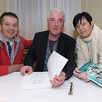 Noel and Susan Mounsey originally from Marian Avenue, getting a copy of their books written by author Ollie Byrnes at the launch of Clare Roots Society's latest publication, 'Marian Avenue 1956-2017 'A Social, Sporting and Photographic History'