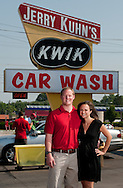Jerry Kuhn's Kwik Car Wash with Tom and Gina Coughlin and son Danny.