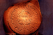 MEXICO, MEXICO CITY, MUSEUM Aztec Culture: the 'Sun or Calendar Stone'