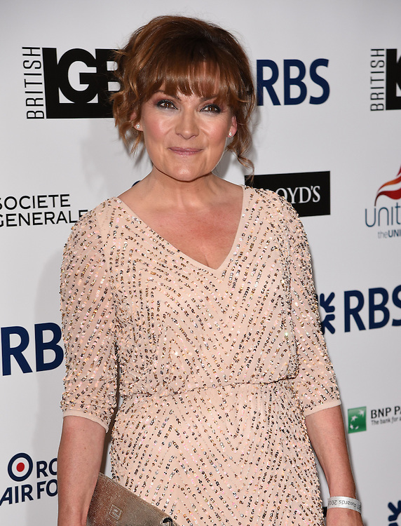 Lorraine Kelly attends The British LGBT Awards at The Landmark Hotel, London on Friday 24 April 2015