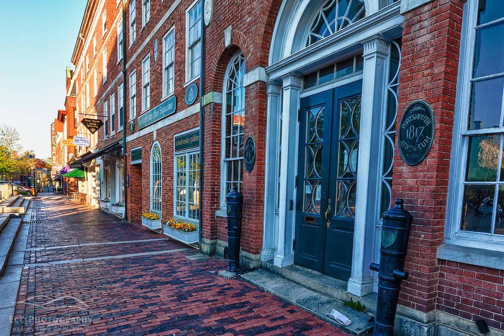 The Portsmouth Anthaneum in Market Square, Portsmouth, New Hampshire. HDR.