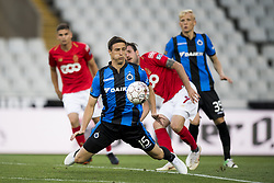 July 22, 2018 - Brugge, BELGIUM - Club's Matej Mitrovic and Standard's Duje Cop fight for the ball during a soccer game between Club Brugge and Standard de Liege, the supercup match between the respective champion of the Jupiler Pro League and the Belgian cup winner, Sunday 22 July 2018, in Brugge. BELGA PHOTO JASPER JACOBS (Credit Image: © Jasper Jacobs/Belga via ZUMA Press)