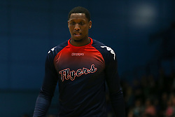 Fred Thomas of Bristol Flyers during the warm up - Photo mandatory by-line: Arron Gent/JMP - 07/12/2019 - BASKETBALL - Surrey Sports Park - Guildford, England - Surrey Scorchers v Bristol Flyers - British Basketball League Championship