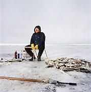 Tomcod fishing in Kivalina, Alaska. 2007