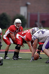 09 September 2006 Luke Drone under center Erik Madsen..In Illinois State's home opener, the Redbirds downed the Central Arkansas Bears by a score of 18-3..Game action took place at Hancock Stadium on the campus of Illinois State University in Normal Illinois.