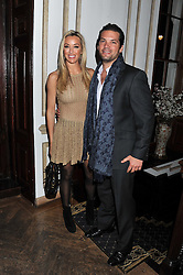 KELLY BERGANTZ and BEN BELLDEGRUN at the 39th birthday party for Nick Candy in association with Ciroc Vodka held at 5 Cavindish Square, London on 21st Januatu 2012.