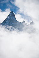 The Aiguilles Verte in Chamonix, France.