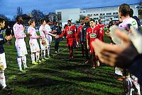 Joie Evian / Deception Bobigny - Haie d'Honneur - 03.01.2015 - Bobigny / Evian Thonon - Coupe de France <br />Photo : Dave Winter / Icon Sport