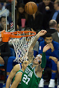 Boston Celtics Daniel Theis (27) during the NBA London Game match between Philadelphia 76ers and Boston Celtics at the O2 Arena, London, United Kingdom on 11 January 2018. Photo by Martin Cole.