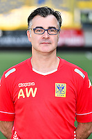 STVV's physiotherapist Arnold Wilmots poses for the photographer during the 2015-2016 season photo shoot of Belgian first league soccer team STVV, Friday 17 July 2015 in Sint-Truiden.