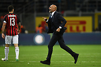 Luciano Spalletti coach of Internazionale celebrates the victory at the end of the Serie A 2018/2019 football match between Fc Internazionale and AC Milan at Giuseppe Meazza stadium Allianz Stadium, Milano, October, 21, 2018 <br />  Foto Andrea Staccioli / Insidefoto