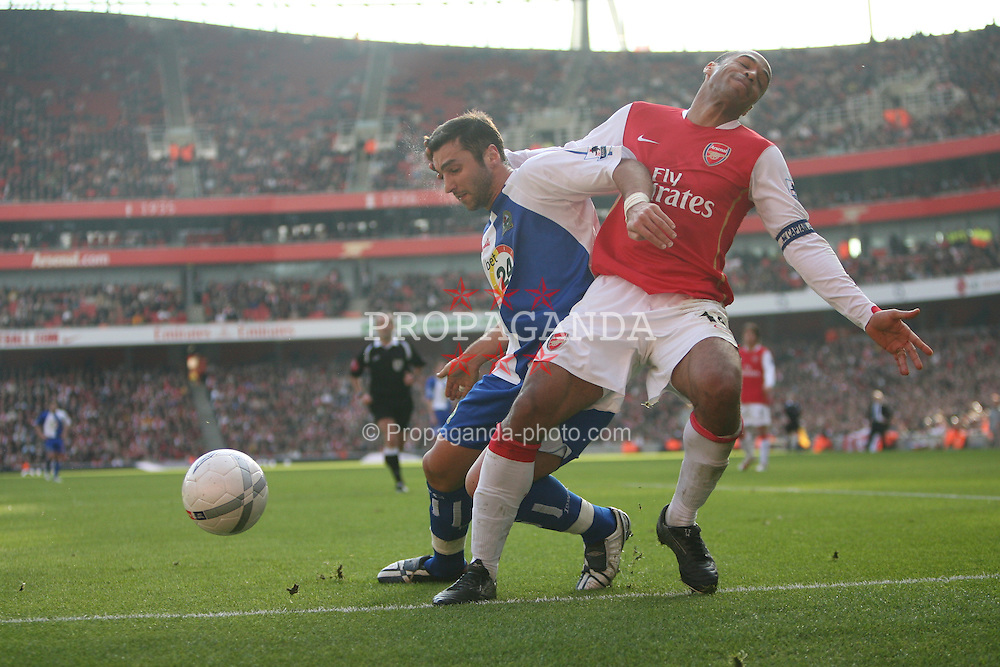 London, England - Saturday, February 17, 2007: Arsenal's Thierry Henry and Blackburn Rovers' Zurab Khizanishvili during the FA Cup 5th round match at the Emirates Stadium. (Pic by Chris Ratcliffe/Propaganda)