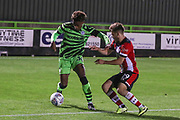 Forest Green Rovers Isiah Jones(36) on the ball  during the EFL Trophy match between Forest Green Rovers and U21 Southampton at the New Lawn, Forest Green, United Kingdom on 3 September 2019.