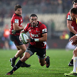 Action during the round six Super Rugby match between the Crusaders and the Bulls at AMI Stadium on March 23, 2018 in Christchurch, New Zealand. Photo: Martin Hunter/ lintottphoto.co.nz