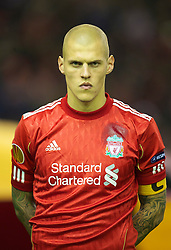LIVERPOOL, ENGLAND - Wednesday, December 15, 2010: Liverpool's Martin Skrtel is made team captain on his birthday during the UEFA Europa League Group K match against FC Utrecht at Anfield. (Photo by: David Rawcliffe/Propaganda)