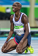 Mo Farah of Great Britain takes Gold to retain his title in the Men's 10,000m on day eight of the XXXI 2016 Olympic Summer Games in Rio de Janeiro, Brazil.<br /> Picture by EXPA Pictures/Focus Images Ltd 07814482222<br /> 13/08/2016<br /> *** UK & IRELAND ONLY ***<br /> <br /> EXPA-GRO-160814-5316.jpg