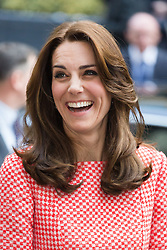 © Licensed to London News Pictures. 11/03/2016. London, UK. Catherine, Duchess of Cambridge visits urban youth charity, XLP at All Hallows On the Wall in London. Photo credit : Vickie Flores/LNP