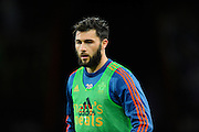 Southampton forward Charlie Austin warming up before the Barclays Premier League match between Bournemouth and Southampton at the Goldsands Stadium, Bournemouth, England on 1 March 2016. Photo by Graham Hunt.