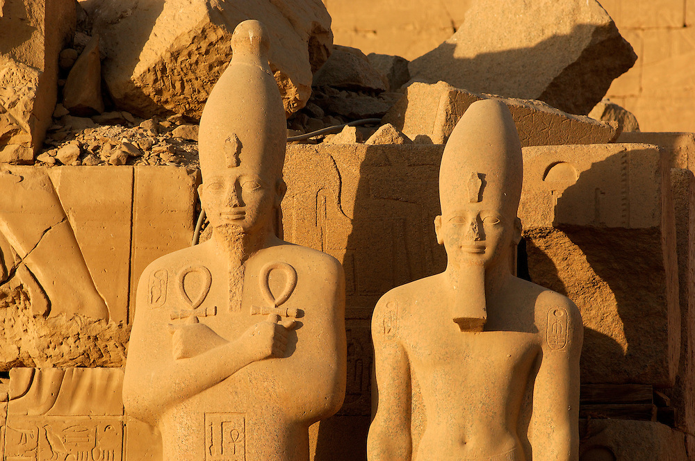 Temple Complex of Karnak in Thebes, Archaeological Sites, Luxor, Egypt