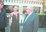 Kate Moss &amp; Henry Kissinger at the Talk magazine launch. New York. 2 September 1999.<br />&copy; Copyright Photograph by Dafydd Jones<br />66 Stockwell Park Rd. London SW9 0DA<br />Tel 0171 733 0108