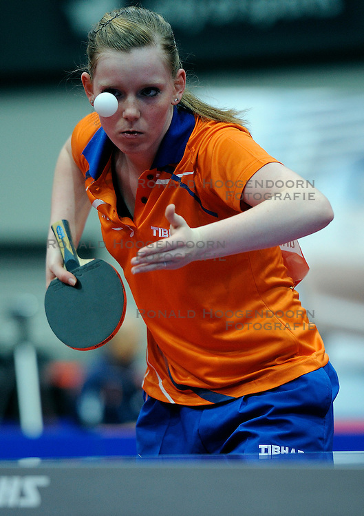 09-05-2011 TAFELTENNIS: WORLD TABLE TENNIS CHAMPIONSHIPS: ROTTERDAM<br /> Britt Eerland NED<br /> &copy;2011-FotoHoogendoorn.nl