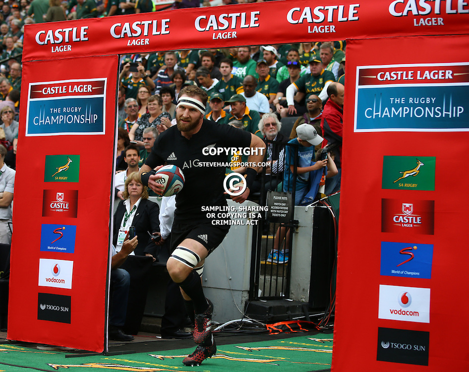 DURBAN, SOUTH AFRICA, 8 October, 2016 - Kieran Read (captain) of New Zealand during the Rugby Championship match between South Africa and New Zealand at Kings Park in Durban, South Africa. (Photo by Steve Haag)