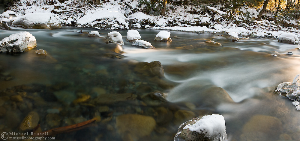 The Chilliwack River in Winter Panorama.