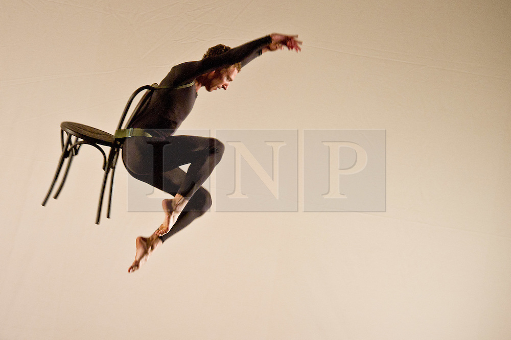 © Licensed to London News Pictures. 05/10/2011. London, UK. Antic Meet, by visionary choreographer Merce Cunningham, performed one last time in the UK by the company he personally trained. Picture shows Daniel Madoff. Photo credit : Tony Nandi/LNPPhoto credit : Tony Nandi/LNP