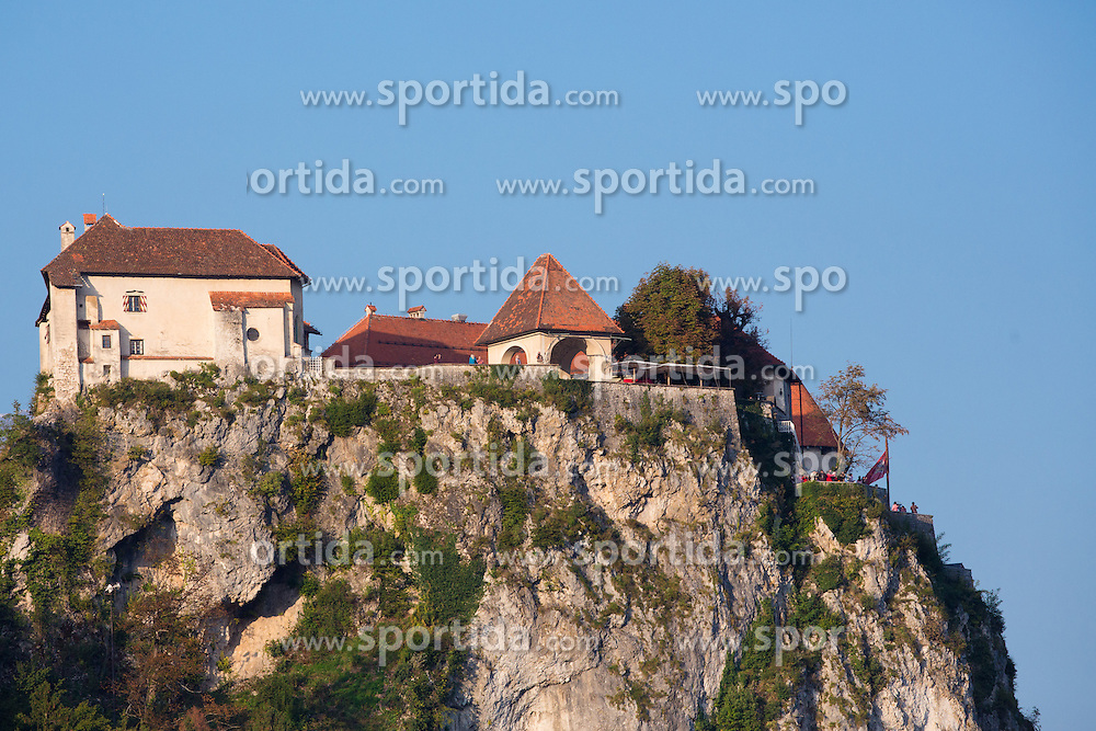 Castle Bled during rowing at Slovenian National Championship and farewell of Iztok Cop, on September 22, 2012 at Lake Bled, Ljubljana Slovenia. (Photo By Matic Klansek Velej / Sportida)