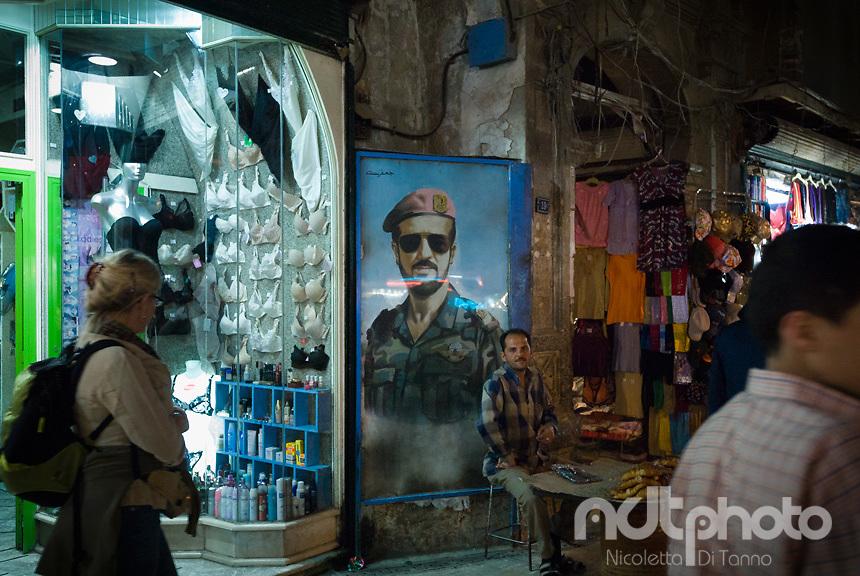 Street propaganda in Aleppo