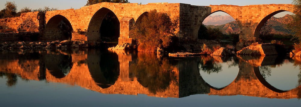 TURKEY, SOUTH COAST graceful 13th.c Selçuk multi-arched bridge